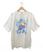 BAPE BY A BATHING APE(ベイプバイアベイシングエイプ)の古着「蓄光プリントTシャツ」|ホワイト