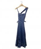 CASA FLINE(カーサフライン)の古着「フロントホックデニムワンピース」|インディゴ