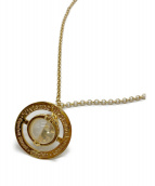 Vivienne Westwood(ヴィヴィアンウエストウッド)の古着「オーブモチーフネックレス」|クリア×ゴールド