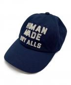 HUMAN MADE(ヒューマンメイド)の古着「ロゴツイルキャップ」|ネイビー
