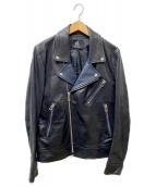 PS Paul Smith(PSポールスミス)の古着「ダブルライダースジャケット」|ブラック