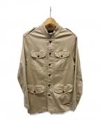 Denham(デンハム)の古着「ミリタリージャケット」 ベージュ