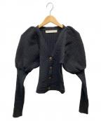 LEINWANDE(ラインヴァンド)の古着「Bobble Knit Cardigan」 ブラック