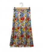 OLD ENGLAND(オールドイングランド)の古着「フラワープリントロングスカート」 マルチカラー
