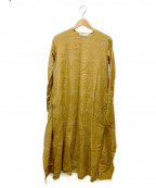 08sircus(ゼロエイトサーカス)の古着「サテンジャカードバックドレープドレス」 ベージュ