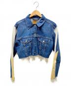 LEVIS PReMIUM(リーバイス プレミアム)の古着「切替ショートデニムジャケット」|インディゴ