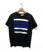 maison kitsune(メゾンキツネ)の古着「プリントTシャツ」|ブラック