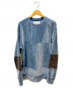 F/CE.(エフシーイー)の古着「ベロアスウェット」|ブルー
