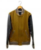 JOHN LAWRENCE SULLIVAN()の古着「袖レザーメルトンスタジャン」|ブラウン