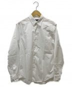 TOMORROW LAND PILGRIM(トゥモローランド ピルグリム)の古着「ブリティッシュポプリンレギュラーカラーシャツ」|ホワイト