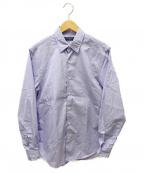 TOMORROW LAND PILGRIM(トゥモローランド ピルグリム)の古着「ブリティッシュポプリンレギュラーカラーシャツ」|ブルー