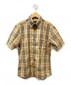 BURBERRY BLACK LABEL()の古着「ノバチェック半袖シャツ」|ベージュ