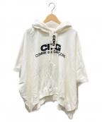 CDG(シーディージー)の古着「エアラインロゴ半袖パーカー」 ホワイト