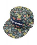 ()の古着「Liberty Floral Box Logo」|ネイビー