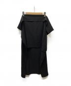 LIMI feu(リミフゥ)の古着「フリルレイヤードスカート」 ブラック