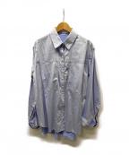 RITO(リト)の古着「ビッグポケットシャツ」 スカイブルー