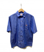 DANTON()の古着「コットンリネンS/Sシャツ」|ブルー