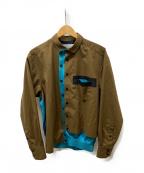 KOLOR(カラー)の古着「Woolly Taffeta Shirt」|ブラウン