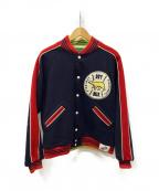 HUMAN MADE(ヒューマンメイド)の古着「リバーシブルカークラブジャケット」|ネイビー×グリーン
