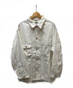 H BEAUTY&YOUTH(エイチ ビューティアンドユース)の古着「WHITE DENIM COVERALL」|ホワイト