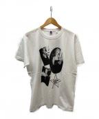 HOLLYWOOD RANCH MARKET(ハリウッドランチマーケット)の古着「マリリンモンローメイクアップTシャツ」|ホワイト