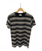 Saint Laurent Paris(サンローランパリ)の古着「スカルボーダーTシャツ」 ブラック