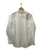 ()の古着「シルク混シアーブラウス」|ホワイト