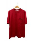 ()の古着「ロゴジャガードポケットTシャツ」|レッド