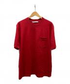 JOHN LAWRENCE SULLIVAN(ジョンローレンスサリバン)の古着「ロゴジャガードポケットTシャツ」|レッド