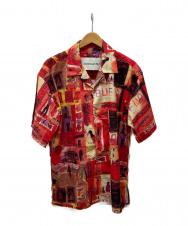 ANDERSSON BELL (アンダースンベル) オープンカラーシャツ レッド サイズ:L