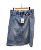 Maison MIHARA YASUHIRO(メゾン ミハラヤスヒロ)の古着「Docking Denim Skirt」|インディゴ