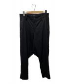 ()の古着「Standard W/Gabardine Sarrouel」|ブラック