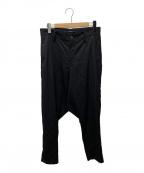 LIMI feu(リミフゥ)の古着「Standard W/Gabardine Sarrouel」 ブラック