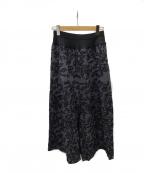 BEARDSLEY(ビアズリー)の古着「総刺繍サルエルパンツ」 ブラック
