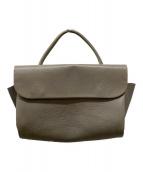 ()の古着「レザーハンドバッグ」|グレー