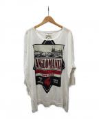 Vivienne Westwood ANGLOMANIA(ヴィヴィアンウエストウッド アングロマニア)の古着「ビックシルエットプリントカットソー」|ホワイト