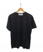 PLAY COMME des GARCONS(プレイ コムデギャルソン)の古着「ハートワンポイントTシャツ」|ブラック