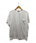 maison kitsune(メゾンキツネ)の古着「フォックスロゴ胸ポケットTシャツ」|ホワイト