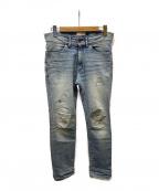 Ron Herman(ロンハーマン)の古着「ダメージリペアUSED加工デニムパンツ」|インディゴ