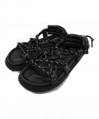 sacai(サカイ)の古着「ダブルレースアップサンダル」|ブラック