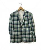 Black Fleece(ブラックフリース)の古着「3Bテーラードジャケット」|ネイビー×グリーン