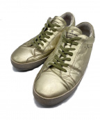 GOLDEN GOOSE(ゴールデングース)の古着「ユーズド加工スニーカー」|ゴールド