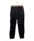 ALEXANDER WANG(アレキサンダーワン)の古着「デニムジョガーカーゴパンツ」 ブラック