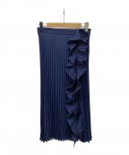 MIU MIU(ミュウミュウ)の古着「プリーツフリルスカート」 ネイビー