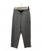 GOLDWIN(ゴールドウイン)の古着「Combat Wool Tuck Tapered Pants」|グレー
