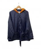 MARNI(マルニ)の古着「フーデットナイロンジップアップジャケット」|ネイビー×オレンジ