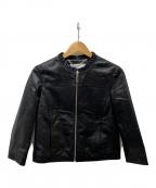 MAX&Co.(マックスアンドコー)の古着「ラムレザージャケット」 ブラック