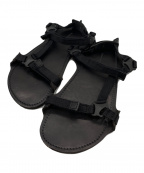 HENDER SCHEME(エンダースキーマ)の古着「レザーシャワーサンダル」|ブラック