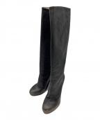 Maison Margiela(メゾンマルジェラ)の古着「ダスト加工ロングブーツ」|ブラック