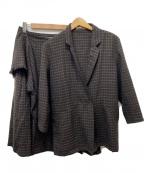 ISSEY MIYAKE(イッセイミヤケ)の古着「ウールセットアップジャケット」|ブラウン